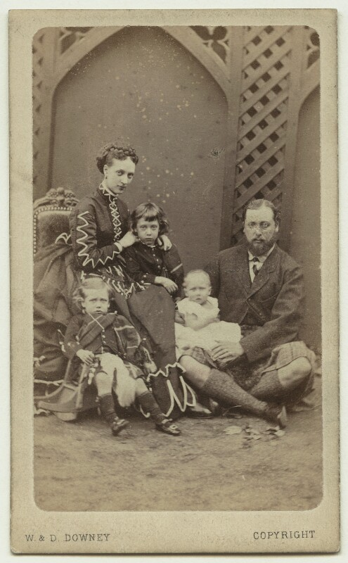 King Edward VII and his family, by W. & D. Downey, Autumn 1868 - NPG x3611 - © National Portrait Gallery, London