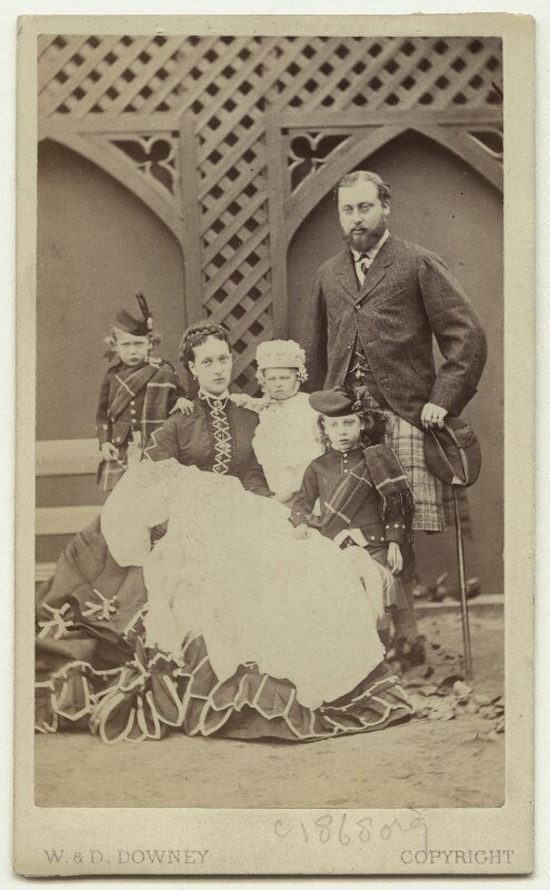 King Edward VII and his family, by W. & D. Downey, Autumn 1868 - NPG x15160 - © National Portrait Gallery, London
