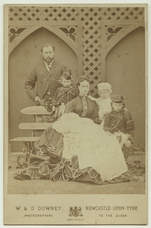 King Edward VII and his family, by W. & D. Downey, Autumn 1868 - NPG x20133 - © National Portrait Gallery, London