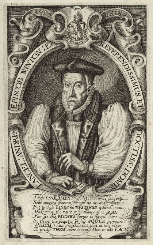 Lancelot Andrewes, by Simon de Passe, 1618 - NPG D25894 - © National Portrait Gallery, London