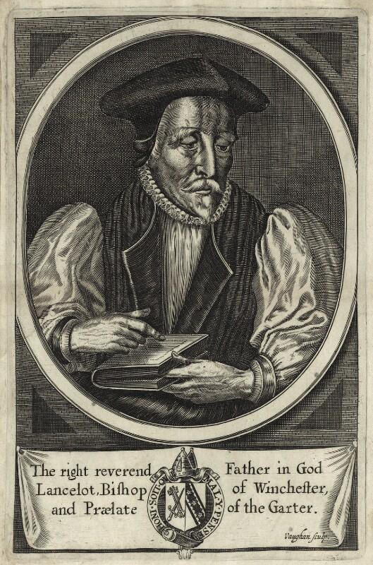 Lancelot Andrewes, by Robert Vaughan, 1657 - NPG D25895 - © National Portrait Gallery, London