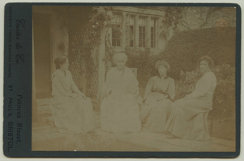 May Morris; Jane Morris (née Burden); Jane Alice ('Jenny') Morris; Ada Peerless, by Carter & Co, Summer 1905 - NPG x33260 - © National Portrait Gallery, London