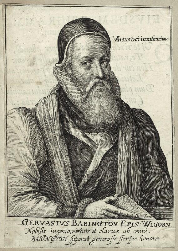 Gervase Babington, possibly by Willem de Passe, 1620 - NPG D25903 - © National Portrait Gallery, London