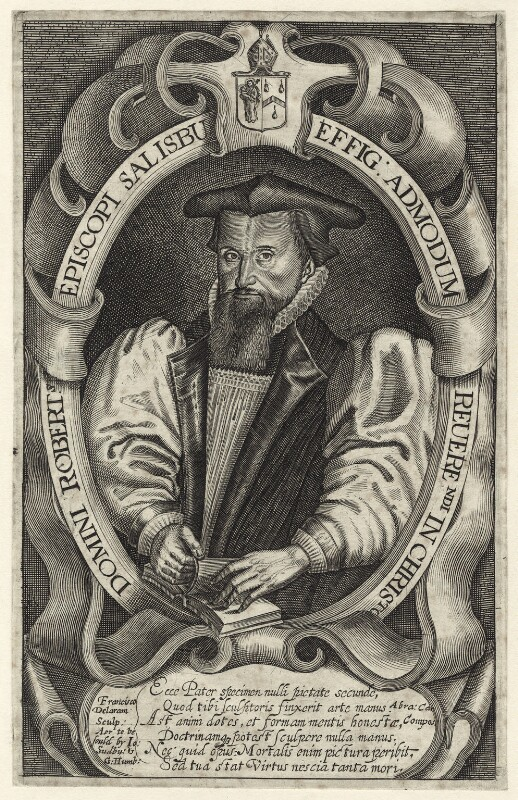 Robert Abbot, by Francis Delaram, published by  John Sudbury, and published by  George Humble, circa 1617-1618 - NPG D25917 - © National Portrait Gallery, London