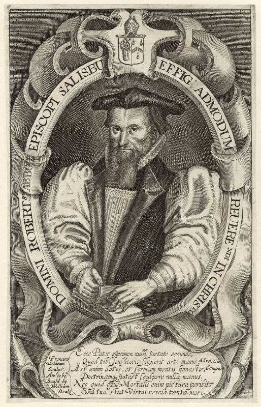Robert Abbot, by Francis Delaram, after  William Peake, circa 1617-1618; published circa 1626-1639 - NPG D25920 - © National Portrait Gallery, London