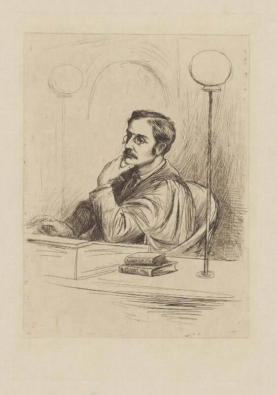 Joseph Shield Nicholson, by William Brassey Hole, published 1884 - NPG D9065 - © National Portrait Gallery, London