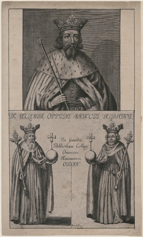 Unknown king, possibly Offa, King of Mercia, after Unknown artist, late 18th-early 19th century - NPG D32044 - © National Portrait Gallery, London