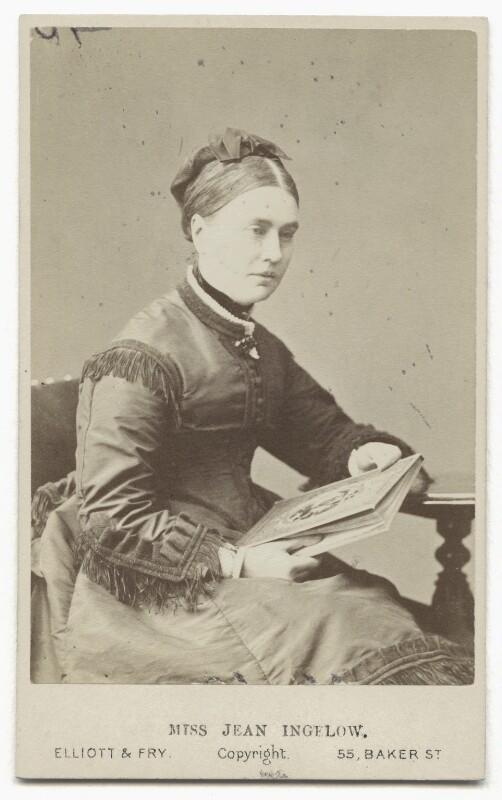 Jean Ingelow, by Elliott & Fry, 1870s - NPG x12121 - © National Portrait Gallery, London