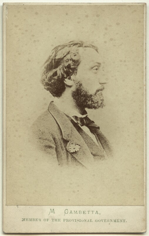 Léon Gambetta, by London Stereoscopic & Photographic Company, early 1870s - NPG x74640 - © National Portrait Gallery, London