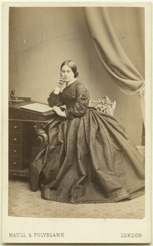 Jean Ingelow, by Maull & Polyblank, 1860-1865 - NPG Ax7546 - © National Portrait Gallery, London