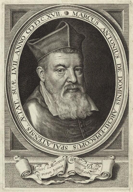 Marco Antonio de Dominis, by Willem Jacobsz Delff, after  Michiel Jansz. van Miereveldt, 1617 - NPG D25958 - © National Portrait Gallery, London