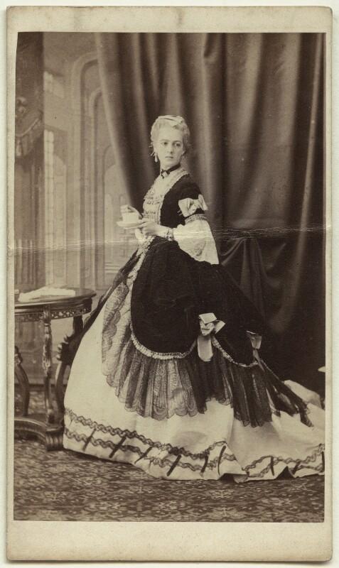 Georgina ('Nina') Chicheley (née Plowden), Lady Grey, by Howard, Bourne & Shepherd, circa 1863 - NPG x26180 - © National Portrait Gallery, London