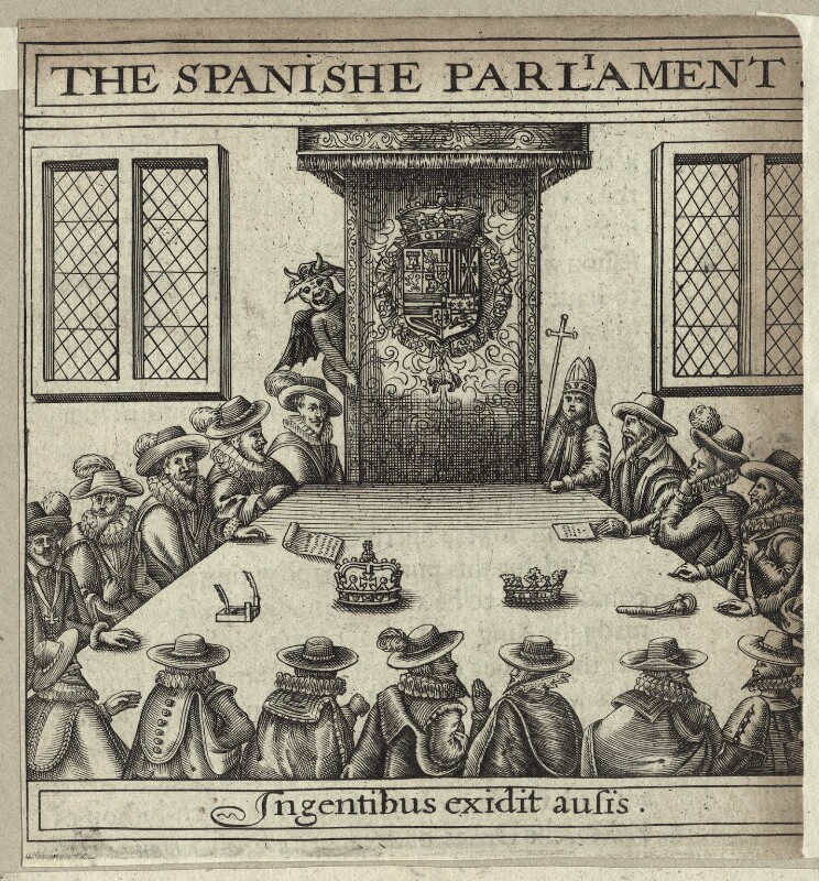 'The Spanishe Parliament', after Unknown artist, 1620 - NPG D26035 - © National Portrait Gallery, London
