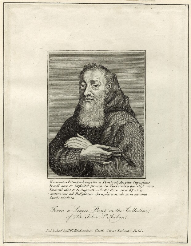 Father Archangel, published by William Richardson, after  Michel Lasne (L' Asne), early 19th century - NPG D26040 - © National Portrait Gallery, London