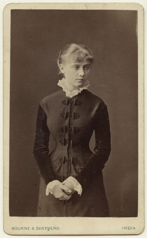 Edith Plowden, by Bourne & Shepherd, 1870s - NPG x129617 - © National Portrait Gallery, London