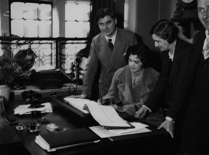 Aneurin Bevan; Jennie Lee; William George Bevan and an unknown woman, by George Woodbine, for  Daily Herald, 25 October 1934 - NPG x131119 - © Science & Society Picture Library / National Portrait Gallery, London