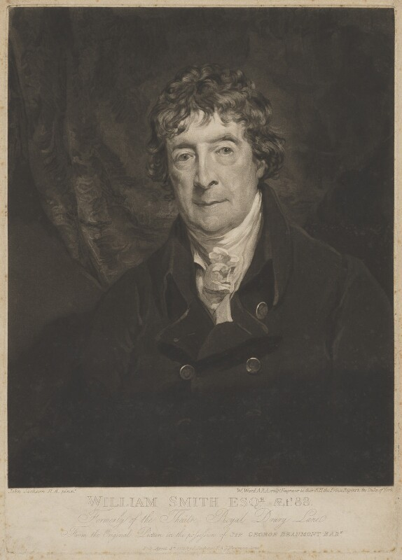 William ('Gentleman') Smith, by William Ward, published by and after  John Jackson, published 8 April 1819 (circa 1819) - NPG D9068 - © National Portrait Gallery, London
