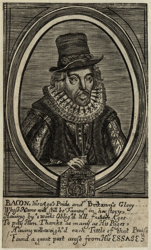 Francis Bacon, 1st Viscount St Alban, after Unknown artist, 17th century - NPG D26074 - © National Portrait Gallery, London