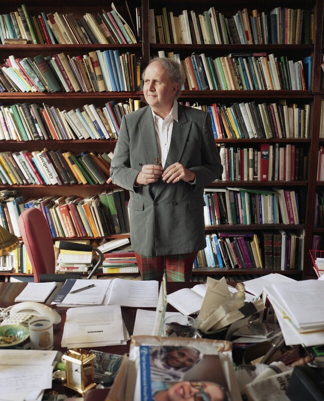 Alexander McCall Smith, by Eva Vermandel, 9 February 2004 - NPG x131139 - © Eva Vermandel