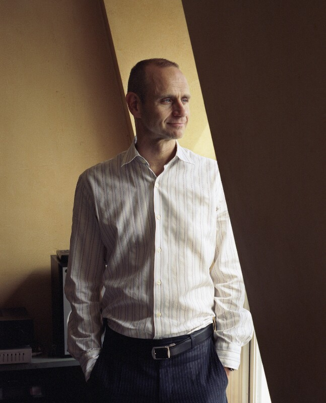 Evan Davis, by Eva Vermandel, 8 June 2007 - NPG x131140 - © Eva Vermandel