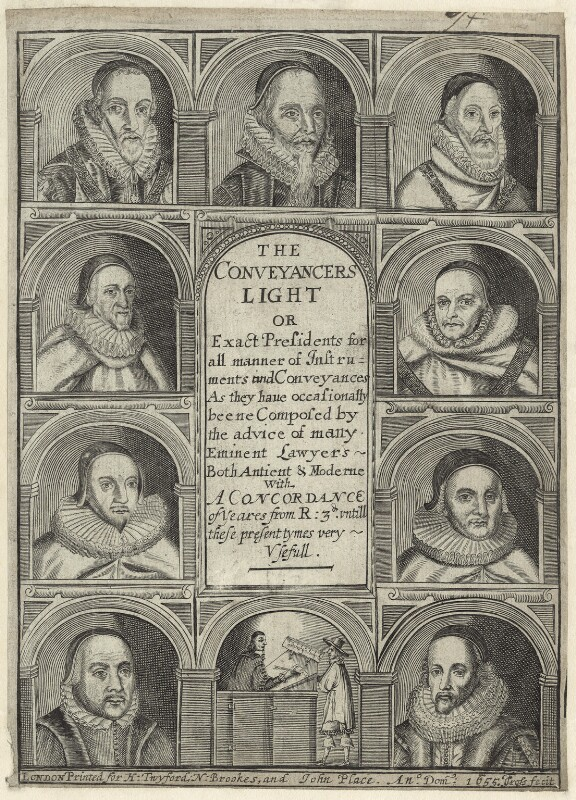 Eminent Lawyers, by Thomas Cross, published 1655 - NPG D26093 - © National Portrait Gallery, London