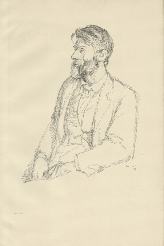Robert Bridges, by William Rothenstein, 1897 - NPG D32095 - © National Portrait Gallery, London