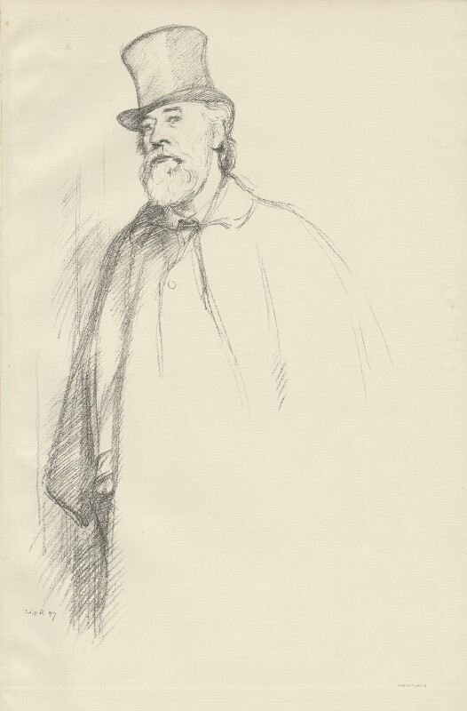 Alphonse Legros, by William Rothenstein, 1897 - NPG D32096 - © National Portrait Gallery, London