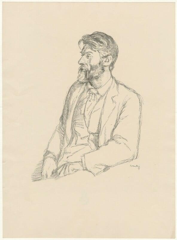 Robert Bridges, by William Rothenstein, 1897 - NPG D32097 - © National Portrait Gallery, London
