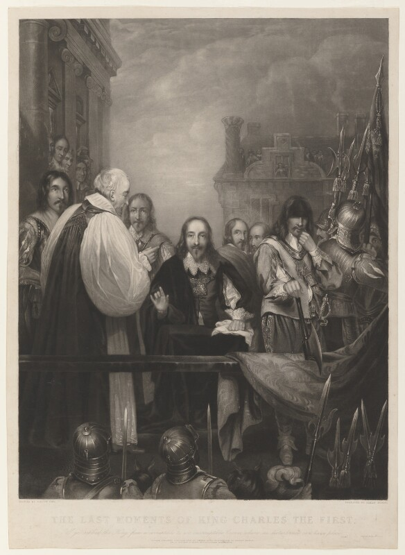 'The last moments of King Charles the First', by James Scott, published by  Thomas Boys, published by  Rittner & Goupil, after  William Fisk, published 1838 - NPG D32081 - © National Portrait Gallery, London