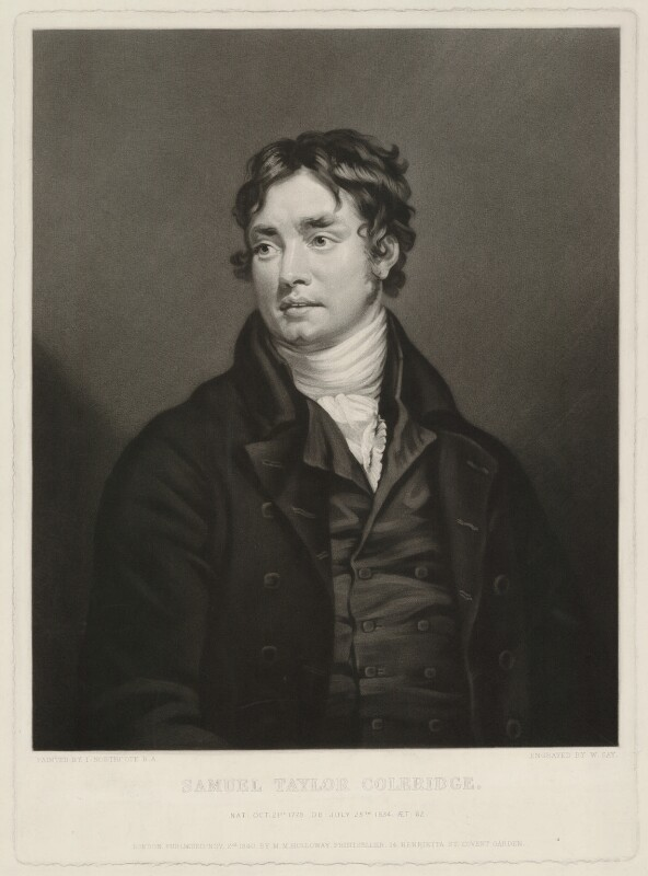 Samuel Taylor Coleridge, by William Say, published by  Marseille Middleton Holloway, after  James Northcote, published 2 November 1840 - NPG D32122 - © National Portrait Gallery, London