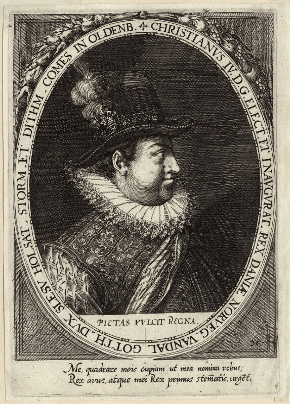 Christian IV, King of Denmark and Norway, after Unknown artist, possibly 17th century - NPG D26181 - © National Portrait Gallery, London