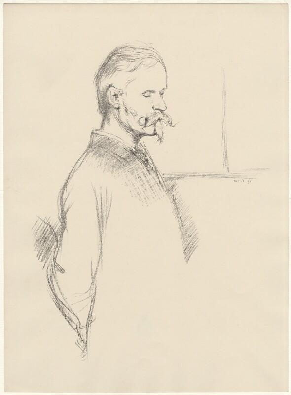 Walter Crane, by William Rothenstein, 1896 - NPG D32127 - © National Portrait Gallery, London