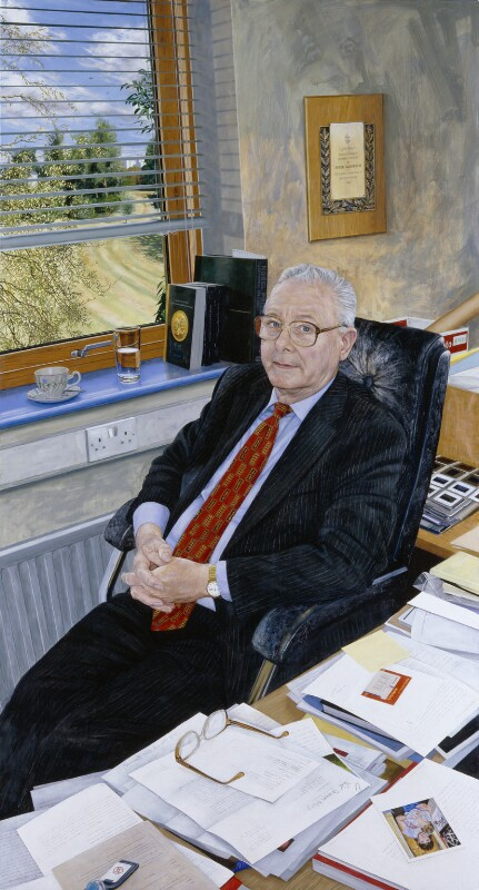 Sir Peter Mansfield, by Stephen Shankland, 2008 - NPG 6836 - © National Portrait Gallery, London