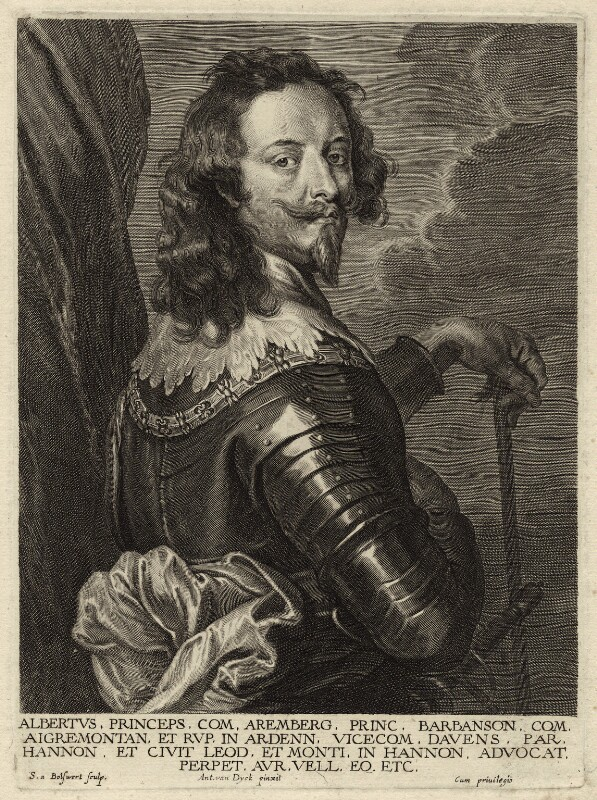 Albert, Count of Arenberg, by Schelte Bolswert, after  Sir Anthony van Dyck, early to mid 17th century - NPG D26236 - © National Portrait Gallery, London