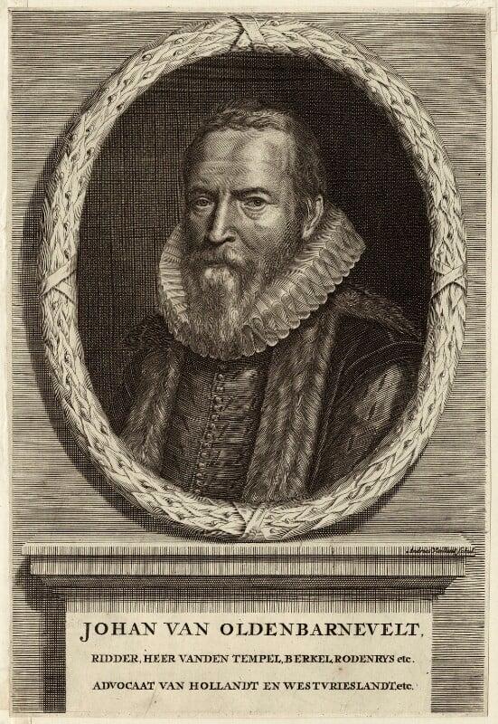 Sir John van Olden Barnavelt (Johan van Oldenbarnevelt), by André Vaillant, mid to late 17th century - NPG D26244 - © National Portrait Gallery, London