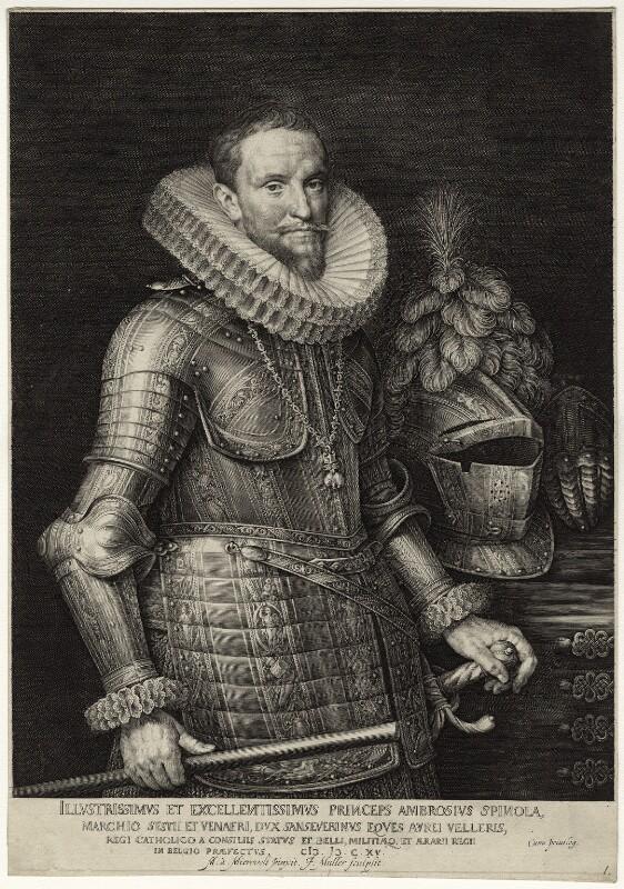 Ambrosio Spinola, Marqués de los Balbases, after Michiel Jansz. van Miereveldt, mid to late 17th century - NPG D26275 - © National Portrait Gallery, London
