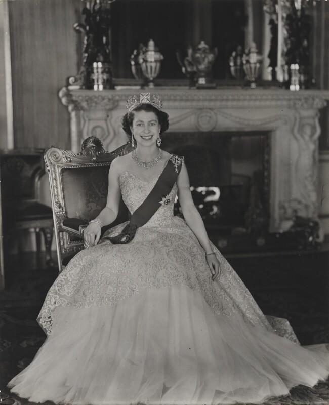 Queen Elizabeth II, by Baron (Sterling Henry Nahum), for  Camera Press: London: UK, 1953 - NPG x131146 - © Baron/Camera Press