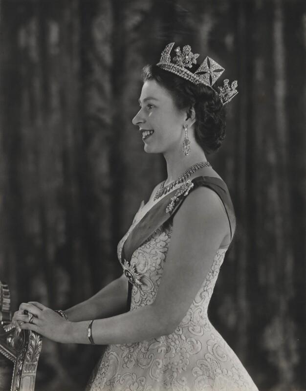 Queen Elizabeth II, by Baron (Sterling Henry Nahum), 1953 - NPG x131148 - © Baron/Camera Press