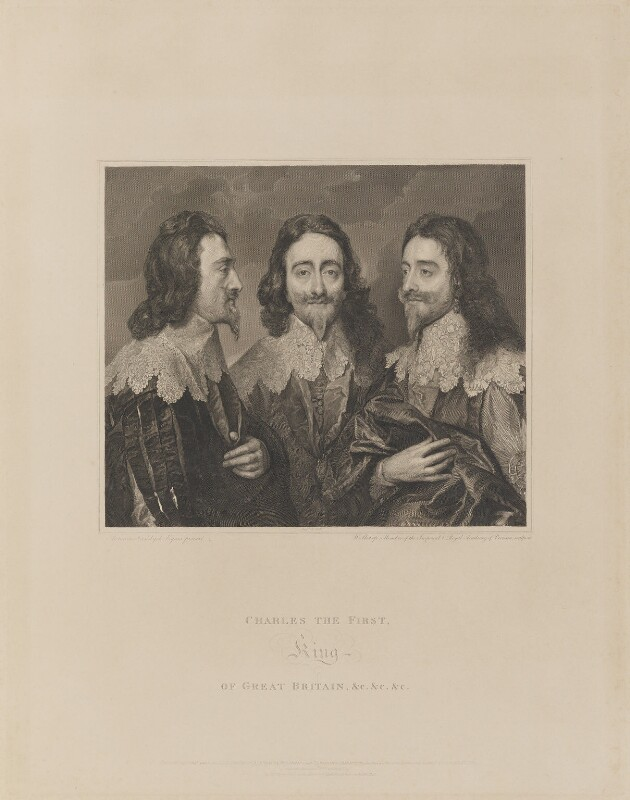 King Charles I, by William Sharp, after  Sir Anthony van Dyck, published 1 February 1815 - NPG D26346 - © National Portrait Gallery, London