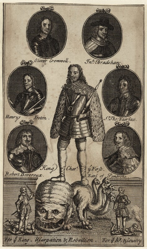 King Charles I and Oliver Cromwell, after Unknown artist, 17th century - NPG D26365 - © National Portrait Gallery, London