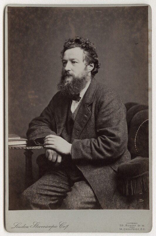 William Morris, by London Stereoscopic & Photographic Company, 14 March 1877 - NPG x3728 - © National Portrait Gallery, London