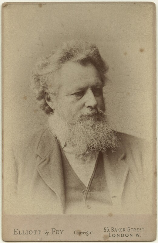 William Morris, by Elliott & Fry, 1888 - NPG x3735 - © National Portrait Gallery, London