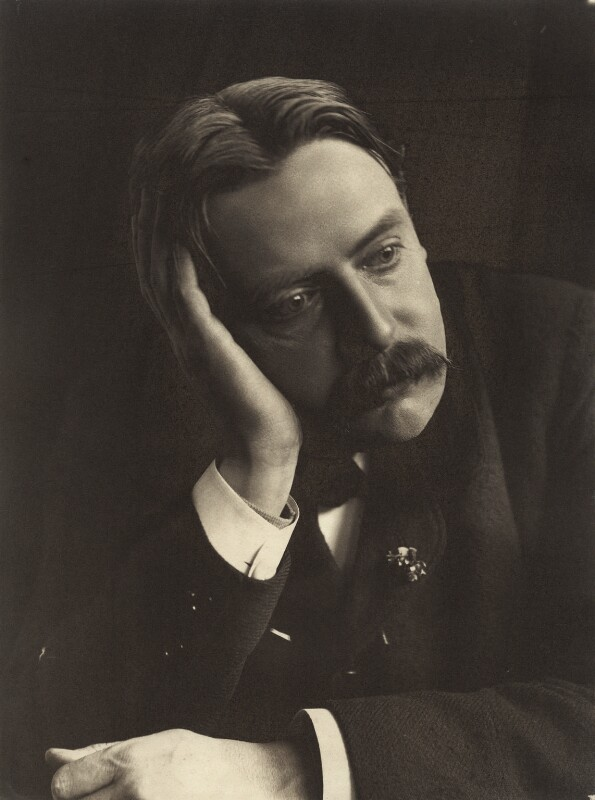 Sir Edmund William Gosse, by Eveleen Myers (née Tennant), early 1890s - NPG Ax36306 - © National Portrait Gallery, London