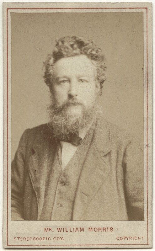 William Morris, by London Stereoscopic & Photographic Company, 14 March 1877 - NPG x3764 - © National Portrait Gallery, London