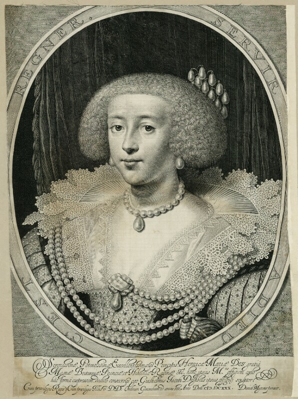 Henrietta Maria, by Willem Jacobsz Delff, after  Daniel Mytens, early 17th century - NPG D26390 - © National Portrait Gallery, London