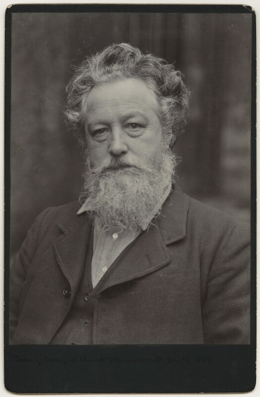William Morris, by Sir Emery Walker, 19 January 1889 - NPG x3733 - © National Portrait Gallery, London