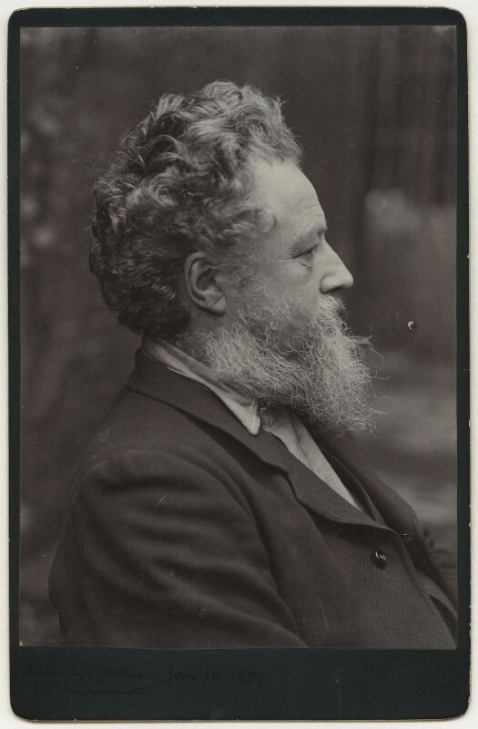 William Morris, by Sir Emery Walker, 19 January 1889 - NPG x3729 - © National Portrait Gallery, London