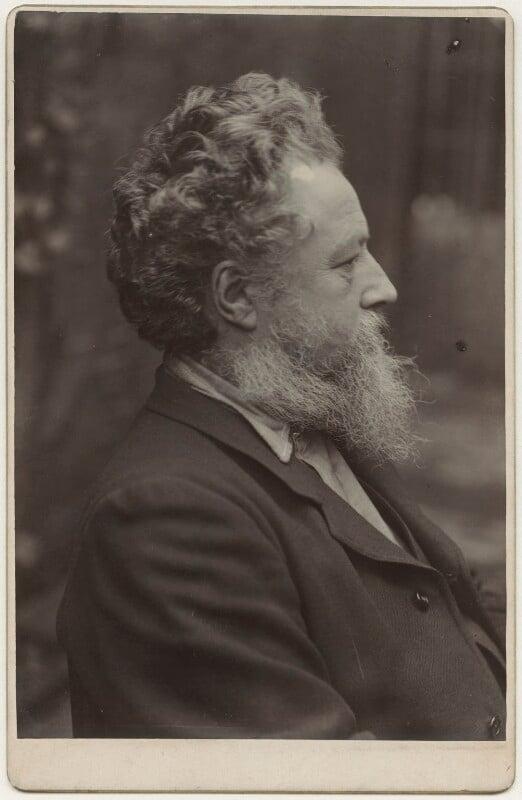 William Morris, by Sir Emery Walker, 19 January 1889 - NPG x3746 - © National Portrait Gallery, London