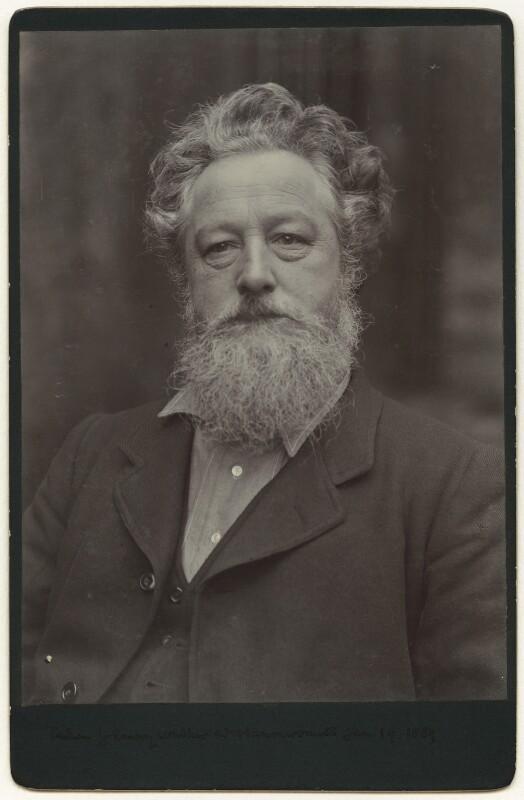 William Morris, by Sir Emery Walker, 19 January 1889 - NPG x3732 - © National Portrait Gallery, London
