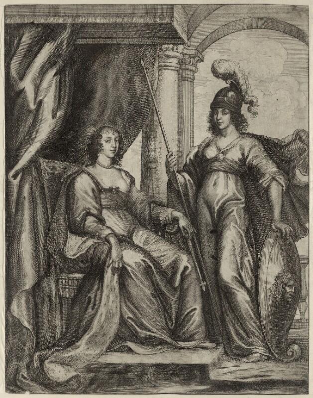 Henrietta Maria, by Wenceslaus Hollar, 1639 - NPG D26402 - © National Portrait Gallery, London